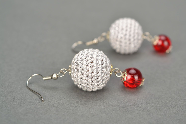 Crocheted earrings photo 1