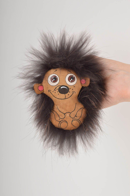 Beautiful soft toy stylish unusual accessories designer handmade hedgehog photo 2