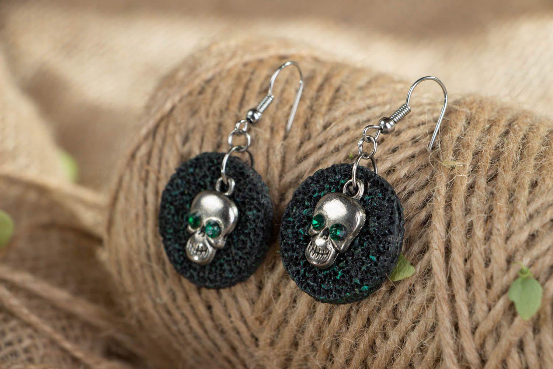 Polymer clay earrings Skulls photo 3