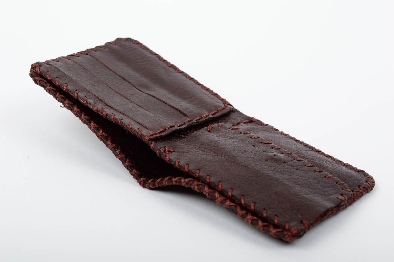 nuevo concepto e056d 6769d Billetera de cuero marrón artesanal accesorio para hombre regalo original