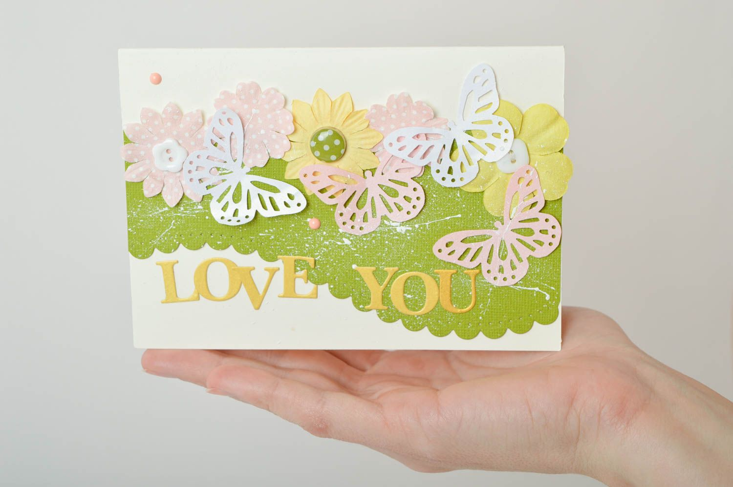 Homemade postcard greeting card love you card souvenir ideas cool gifts photo 5