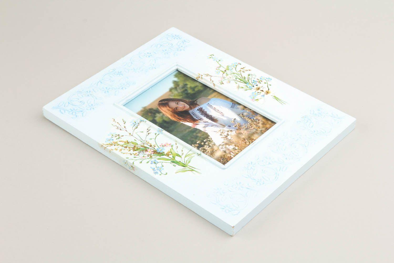 Wooden decoupage photoframe photo 4
