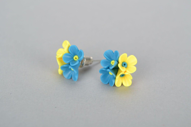 Polymer clay earrings Flowers photo 3