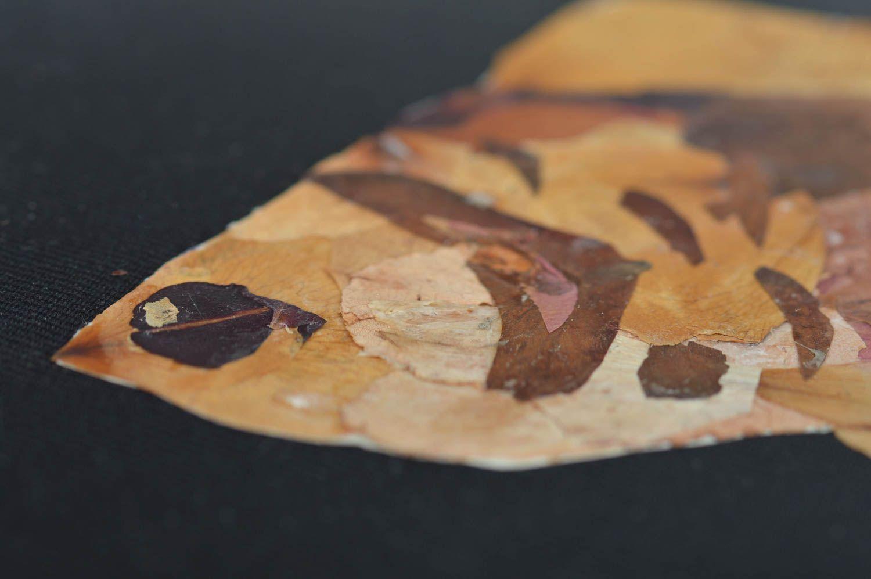 madeheart tableau en feuilles s ch es sur tissu noir fait main d coratif mural poisson. Black Bedroom Furniture Sets. Home Design Ideas