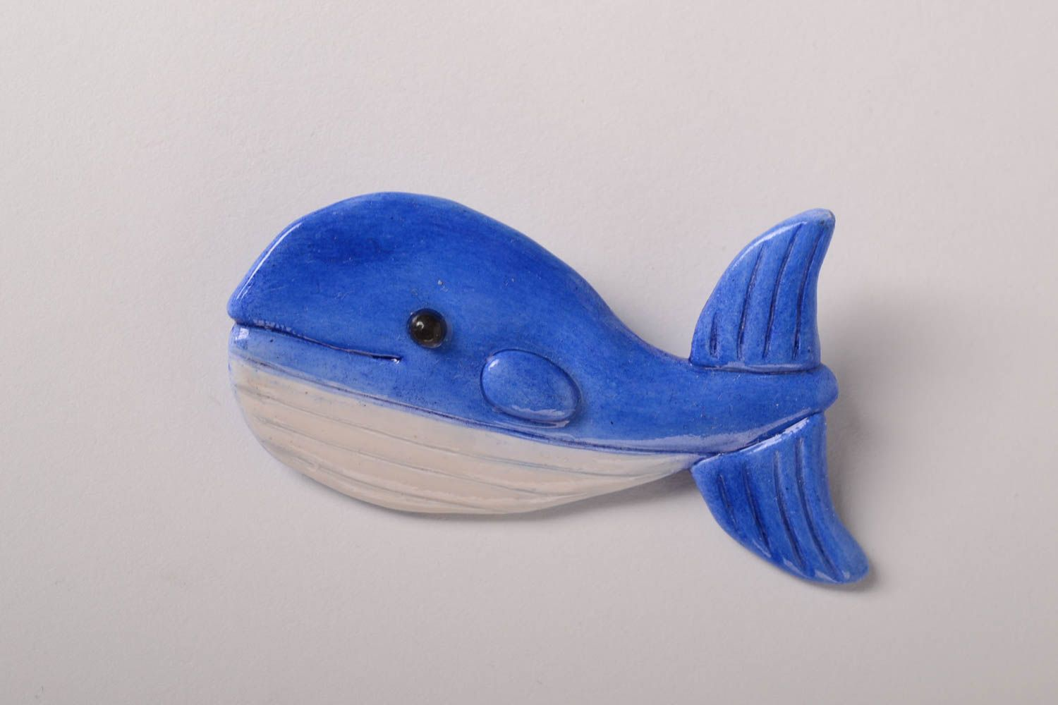 badges Polymer clay brooch handmade jewelry women brooch whale badges accessories  - MADEheart.com