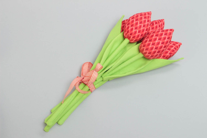 Букет из тюльпанов из ткани своими руками 40