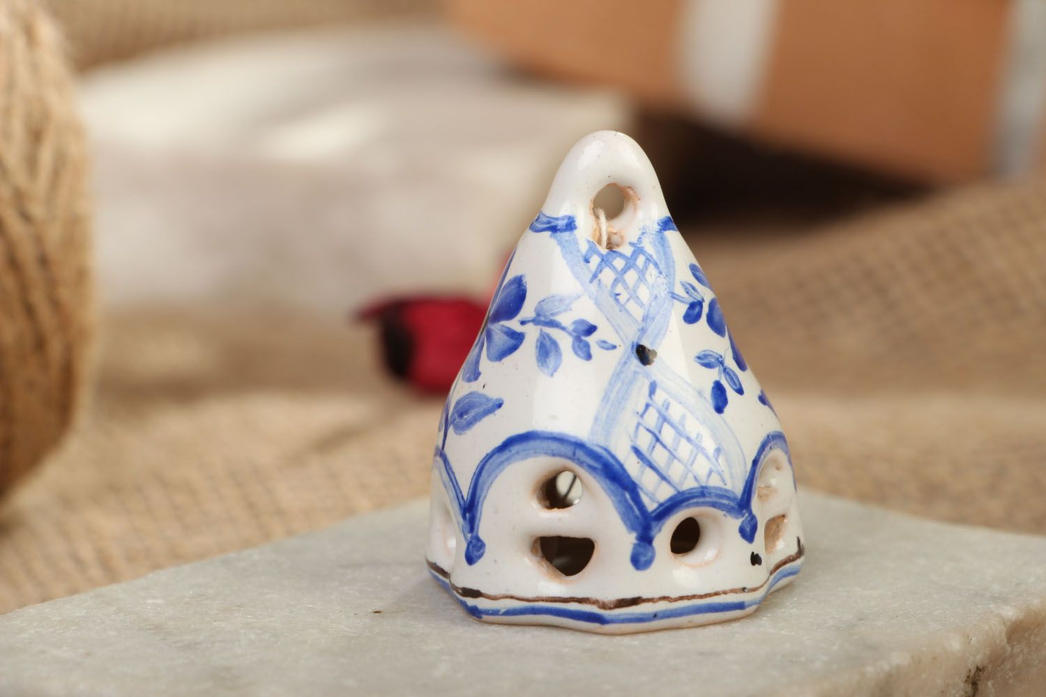 Small enameled bell photo 5