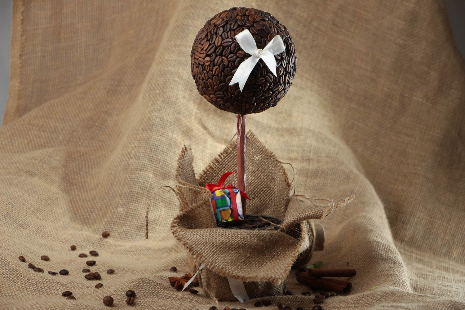 Topiary with coffee grains photo 5