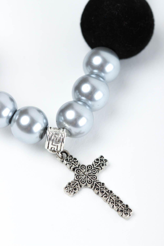 Handmade bracelet glass accessory unusual bracelet for girls designer jewelry photo 3
