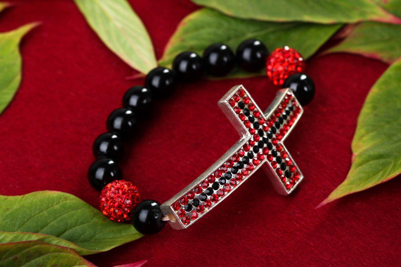 Handmade beaded bracelet accessories with natural stones designer jewelry photo 1
