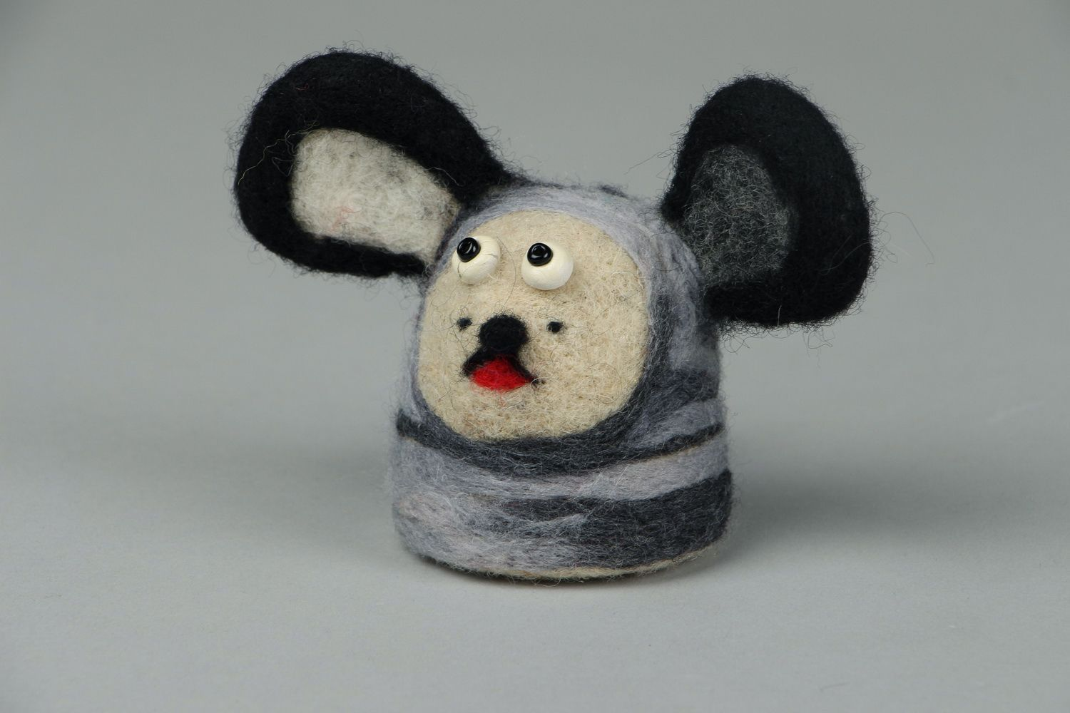 Toy made of felted wool Doggie photo 1