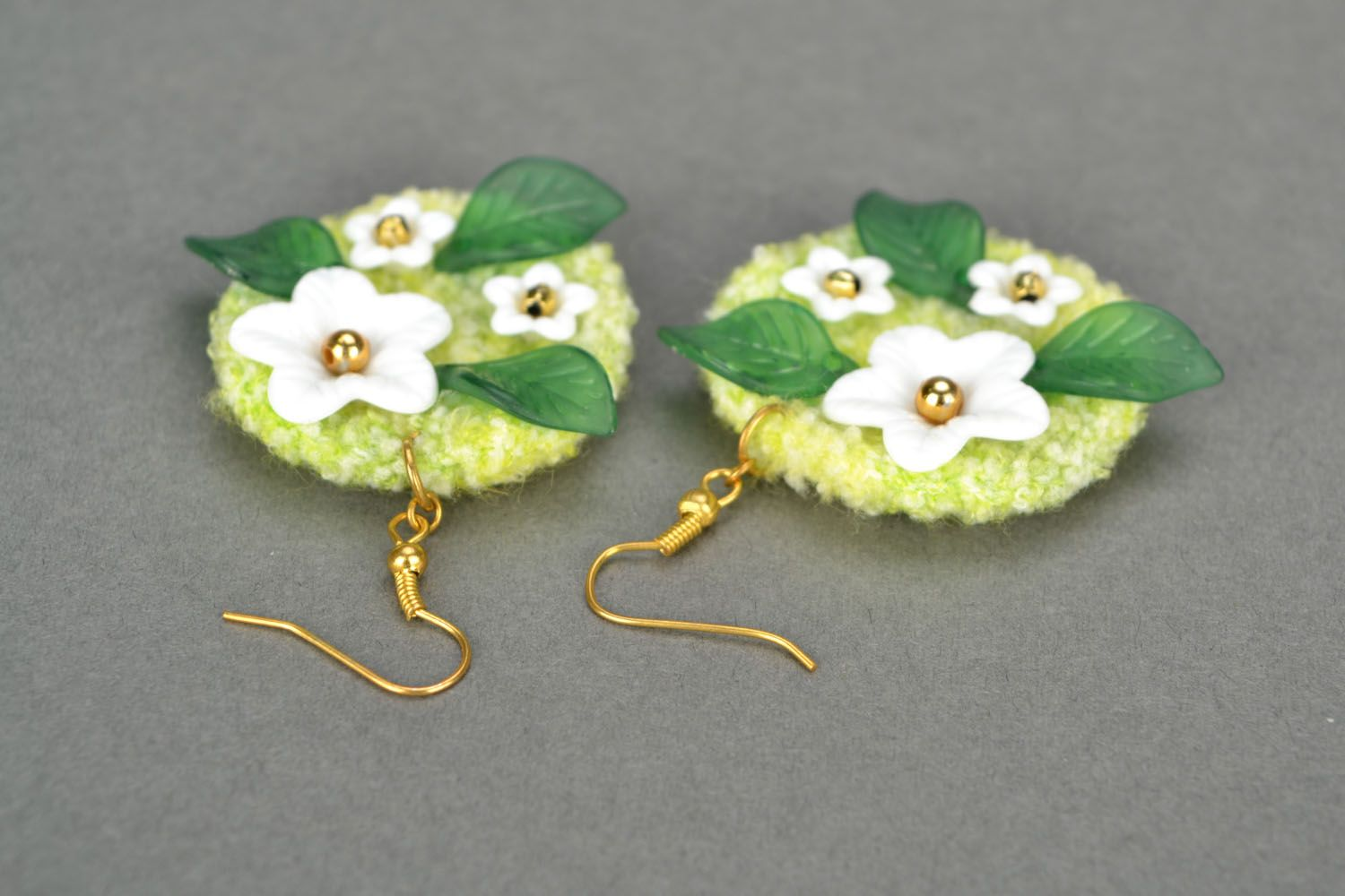 Crocheted earrings Spring photo 5