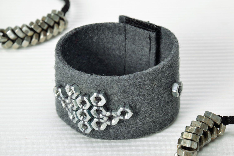 Filz Armband mit Aufschlägen foto 1