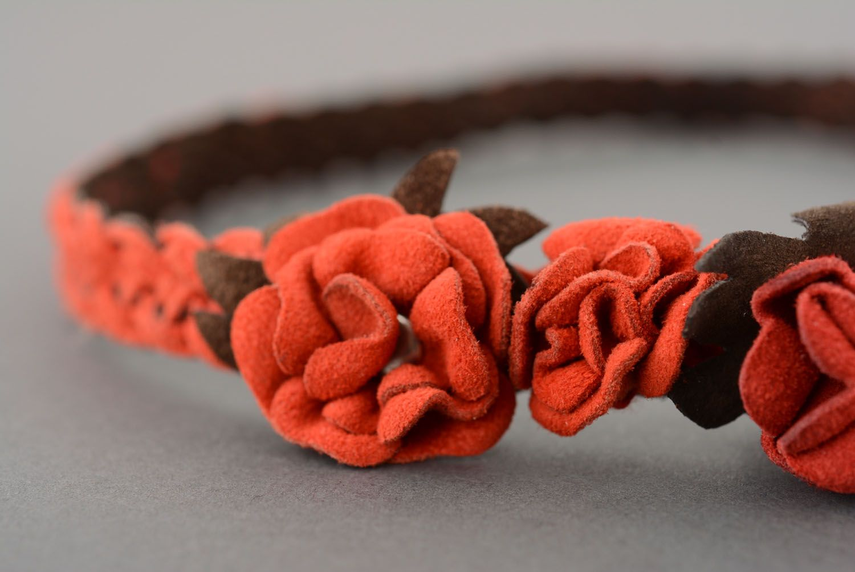 Leather headband  photo 3