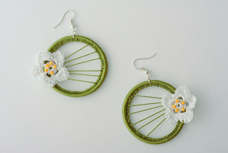 Hoop earrings on aluminium basis photo 1
