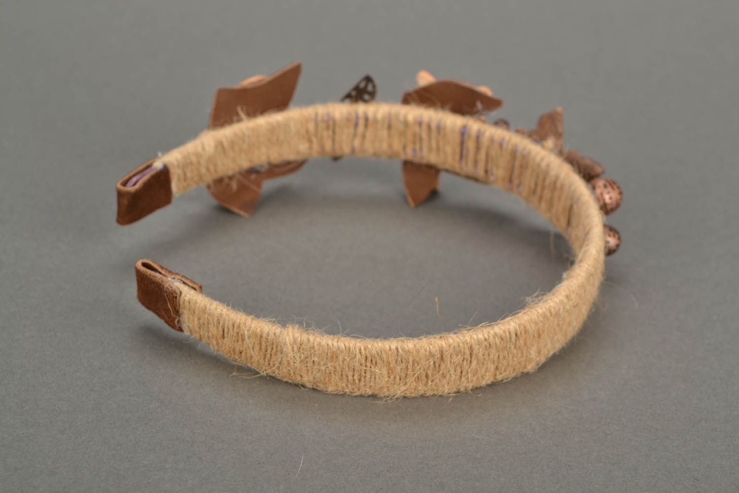 Hairband with leather insets photo 4