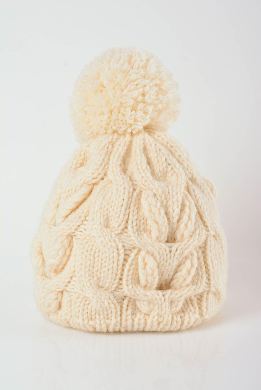 MADEHEART Gorro de abrigo para mujer tejido a dos agujas de lana