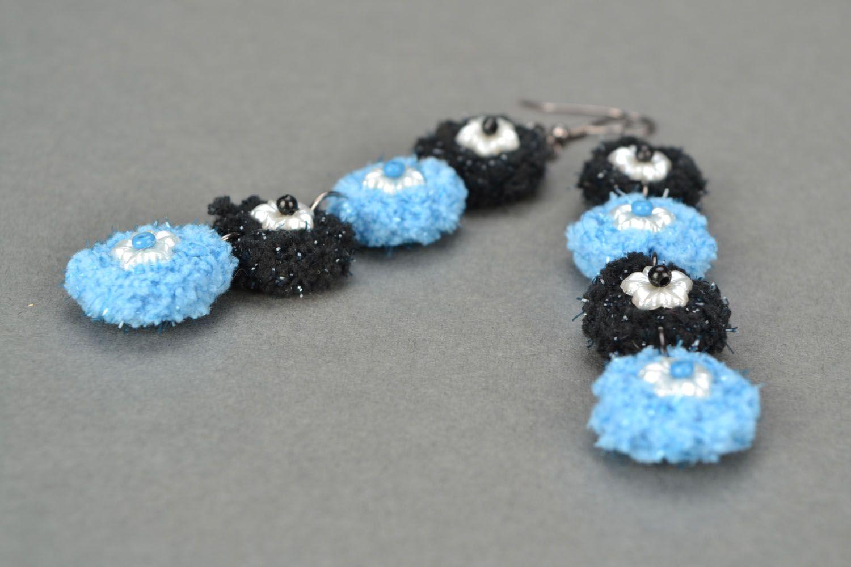 Handmade crocheted earrings photo 4