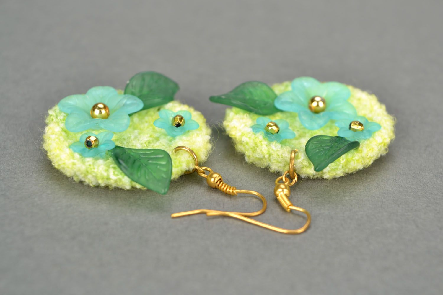 Crochet earrings Tenderness photo 5