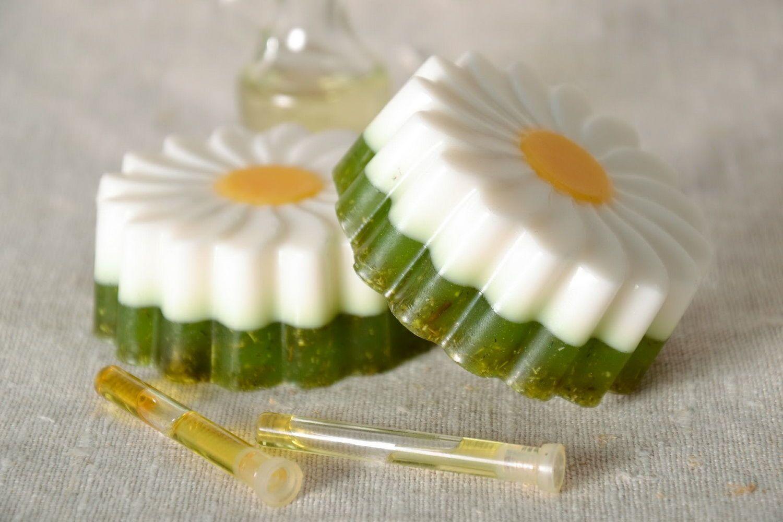 Soap with camomile tea photo 1