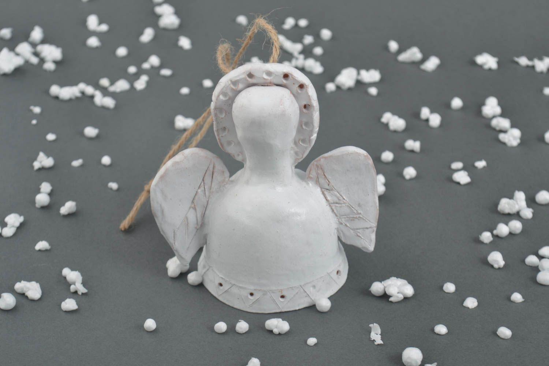 Homemade ceramic figurine handmade clay bell pottery art interior decorating photo 1
