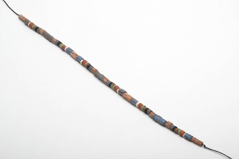 Handmade ceramic necklace photo 3