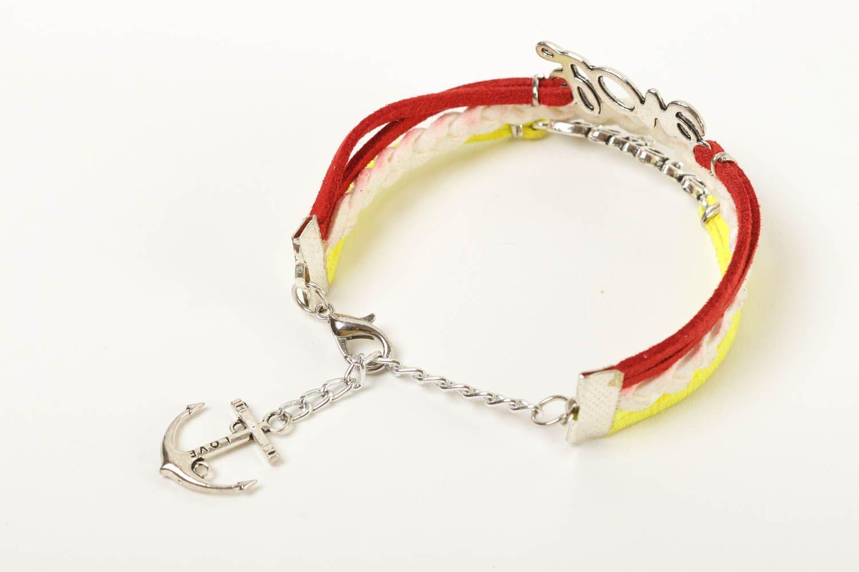 Unusual handmade leather bracelet wrist suede bracelet cool jewelry designs photo 4