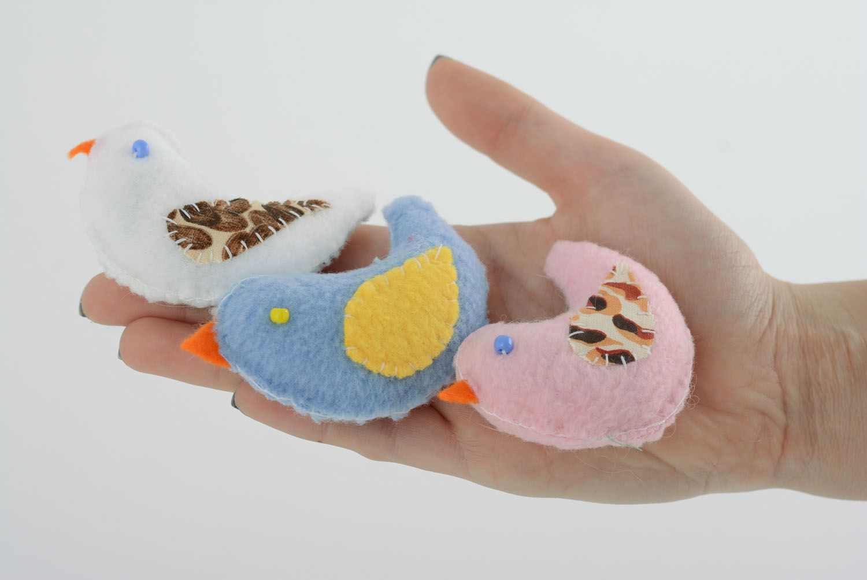 Set of fabric toys Birdies photo 5
