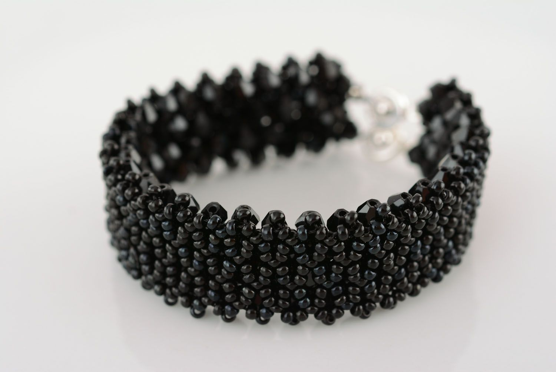 Wide black bracelet photo 3