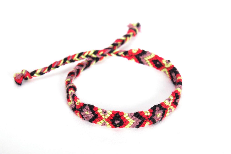 Bright woven friendship bracelet photo 3