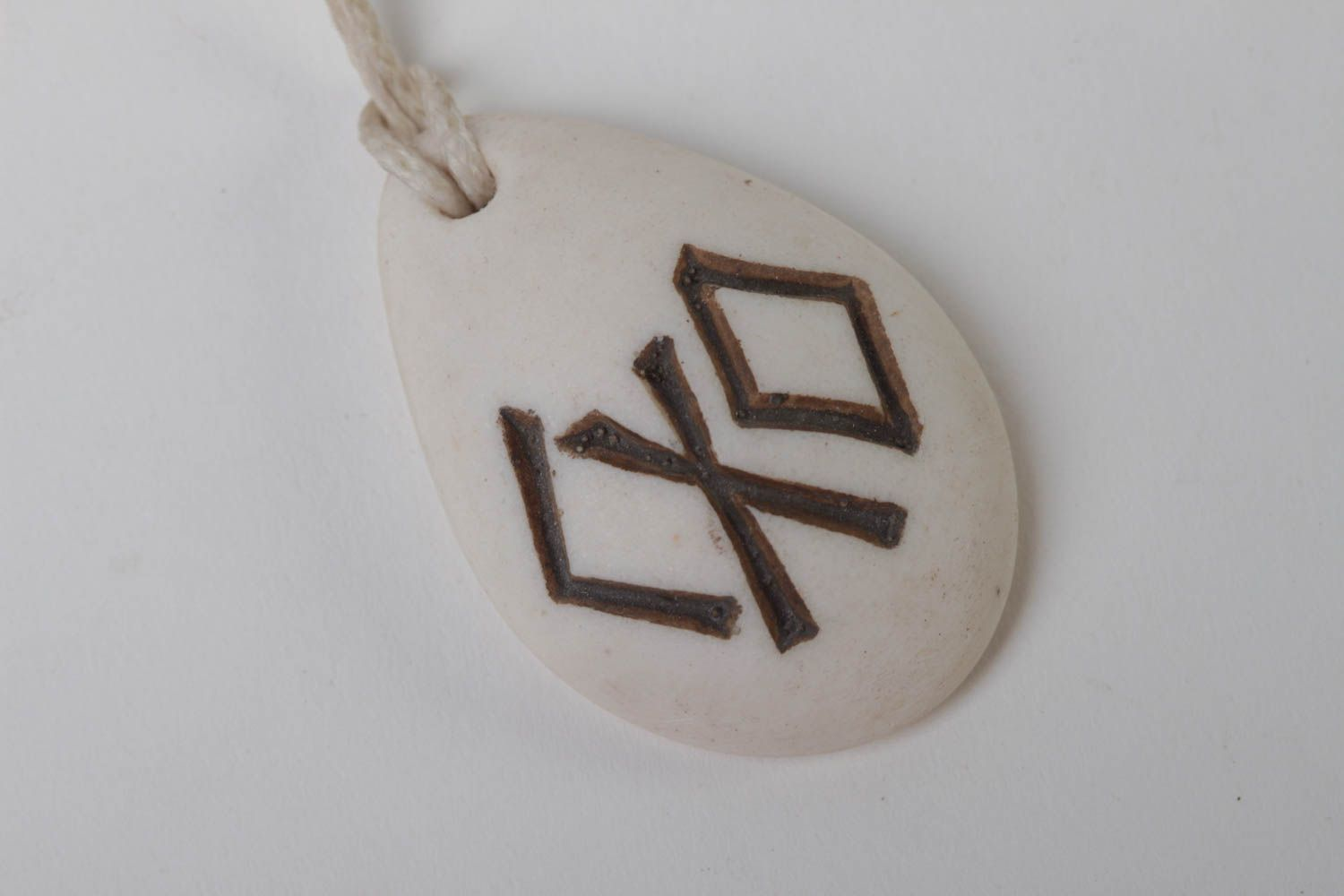next-to-skin amulets Handmade resin pendant accessory with runes polymer resin jewelry for men - MADEheart.com