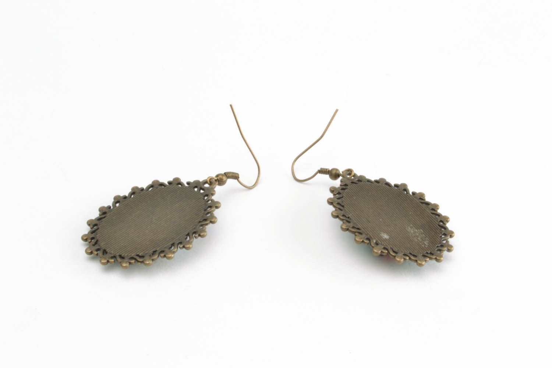 Polymer clay earrings Bullfinches photo 5