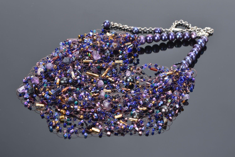 Gemstone beaded necklace photo 1