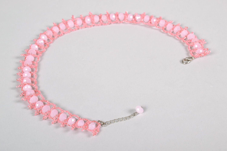 Плетеное ожерелье из бисера фото 5
