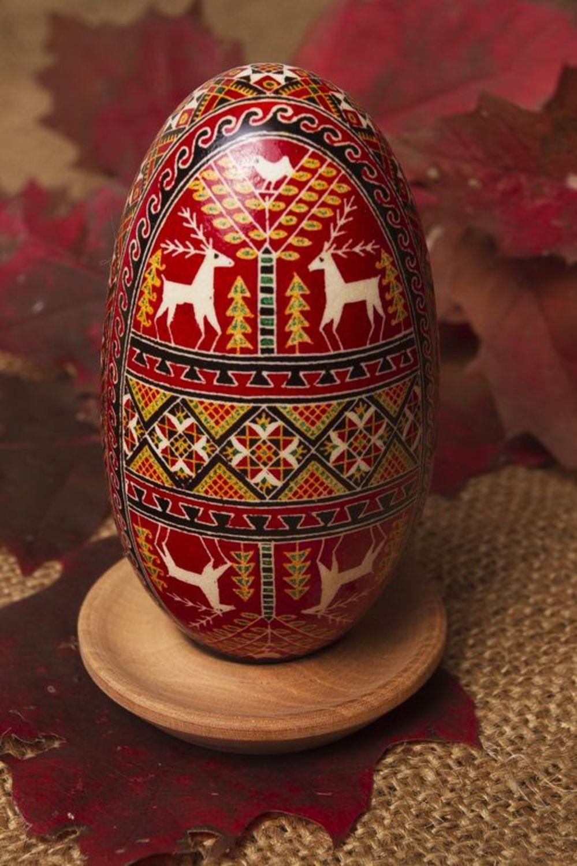 goose easter eggs Pysanka made of goose egg - MADEheart.com