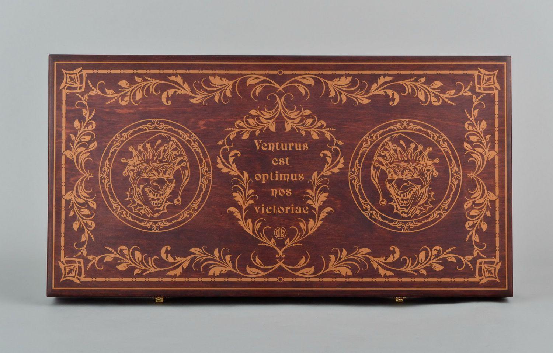 Wooden backgammon set photo 3