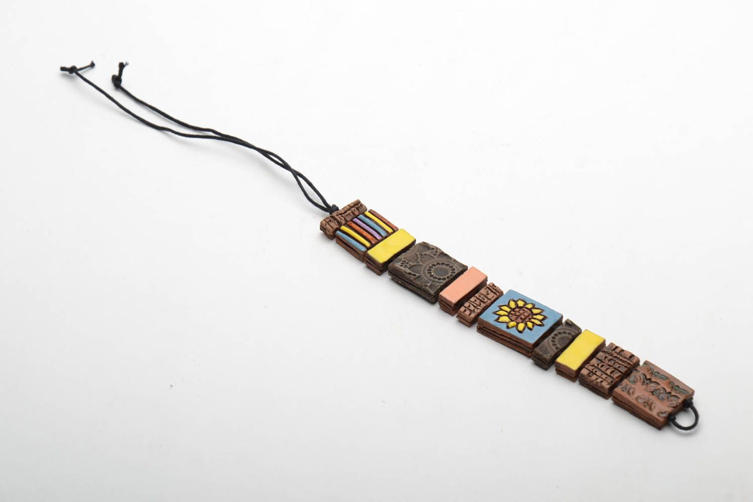 Ceramic bracelet with square beads photo 3