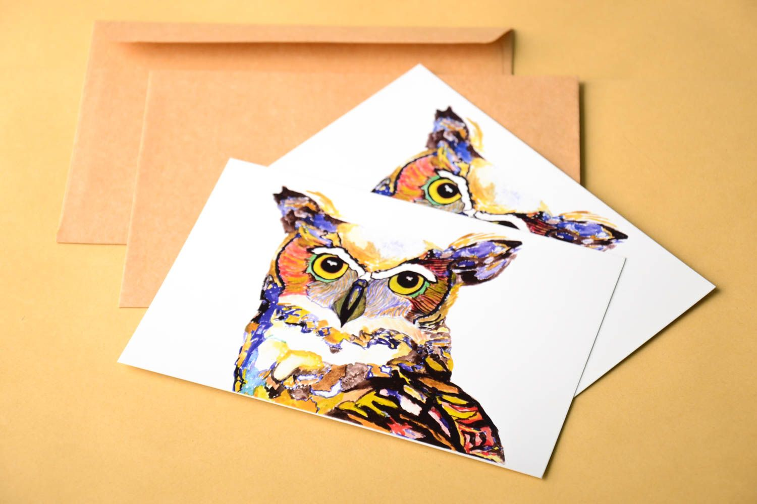 Handmade cards unusual gift designer card collectible greeting card 2 items photo 1