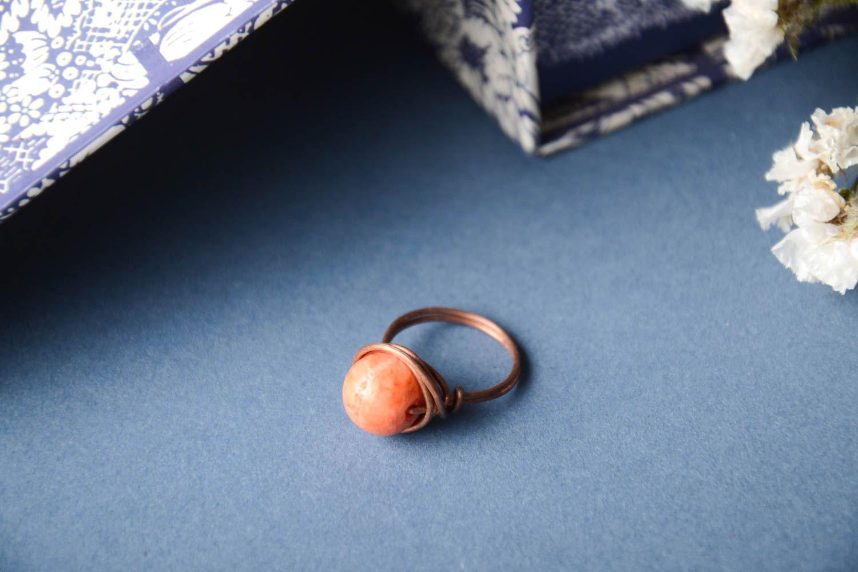 Handmade copper designer ring unusual beautiful ring stylish jewelry for women photo 1