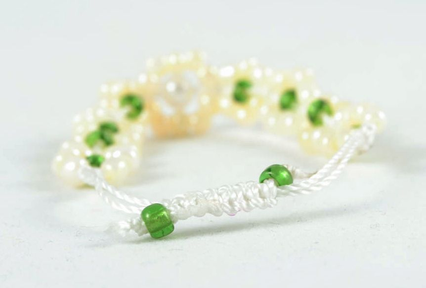 Handmade beaded bracelet photo 1