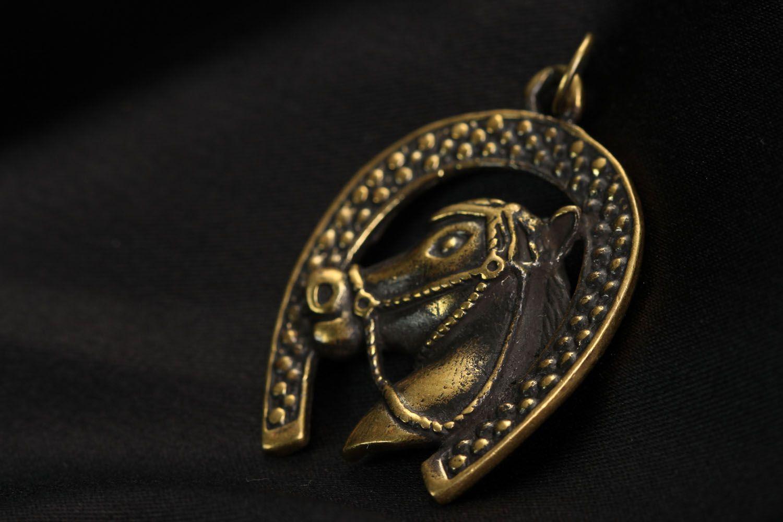 Bronze Anhänger Hufeisen foto 2