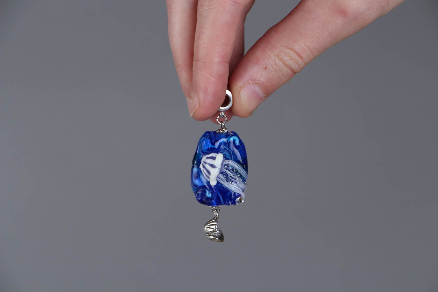 Glass pendant Jellyfish photo 4