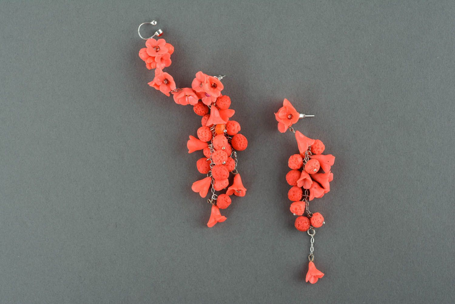 Long cuff earrings Flower Abundance photo 2