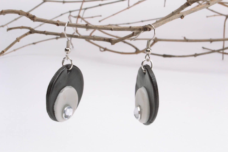 Unusual plastic earrings  photo 1