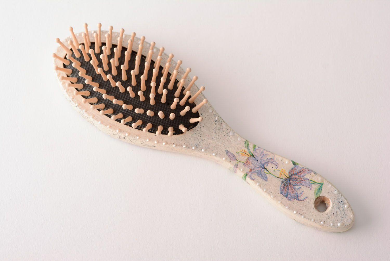 Handmade massage hair brush wooden accessories for hair convenient hair brush photo 1