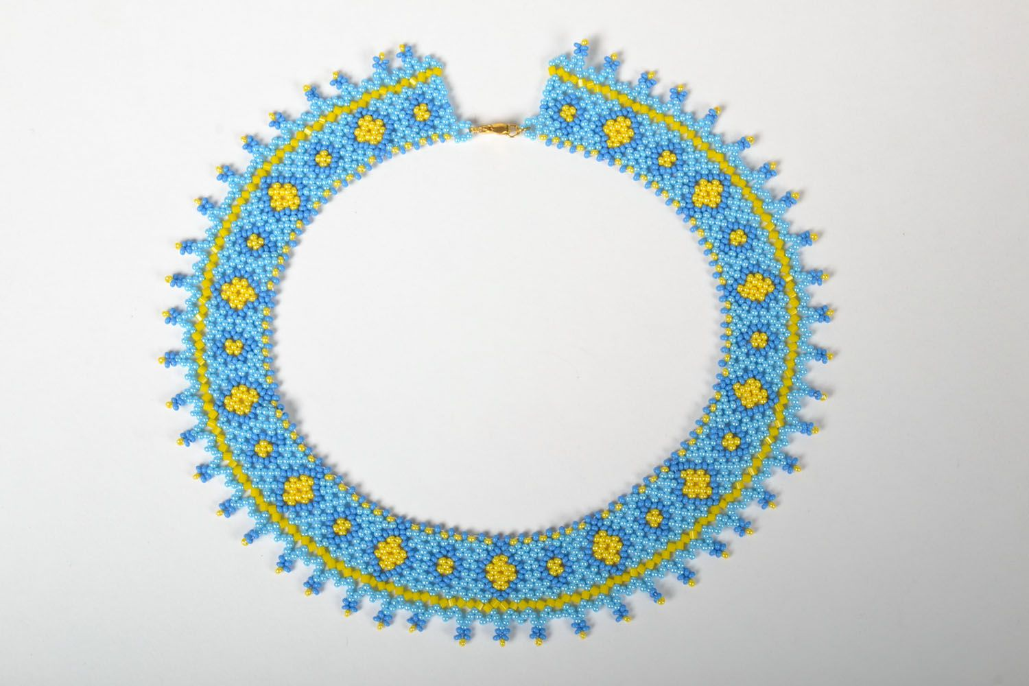 Beaded necklace Spring photo 2