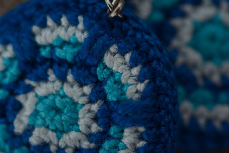Stylish crochet earrings photo 4