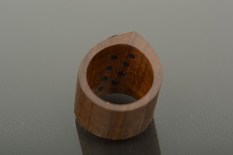 Wooden ring handmade wooden jewelry stylish ring handmade jewelry for women photo 2