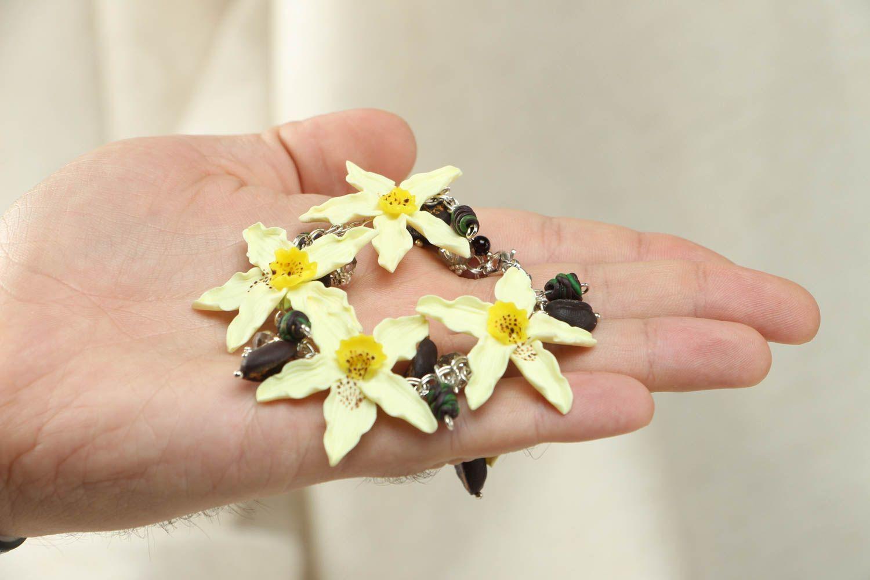Наручный браслет из полимерной глины фото 4