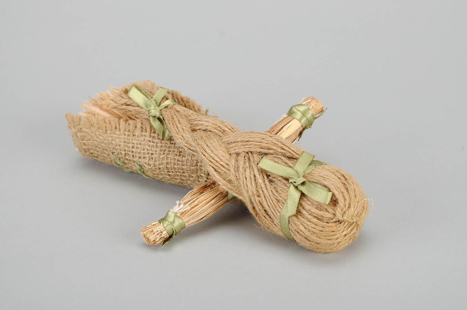 Amulet doll made of linen cord photo 4